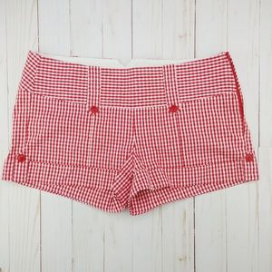Charlotte Russe | Red & White Gingham Shorts